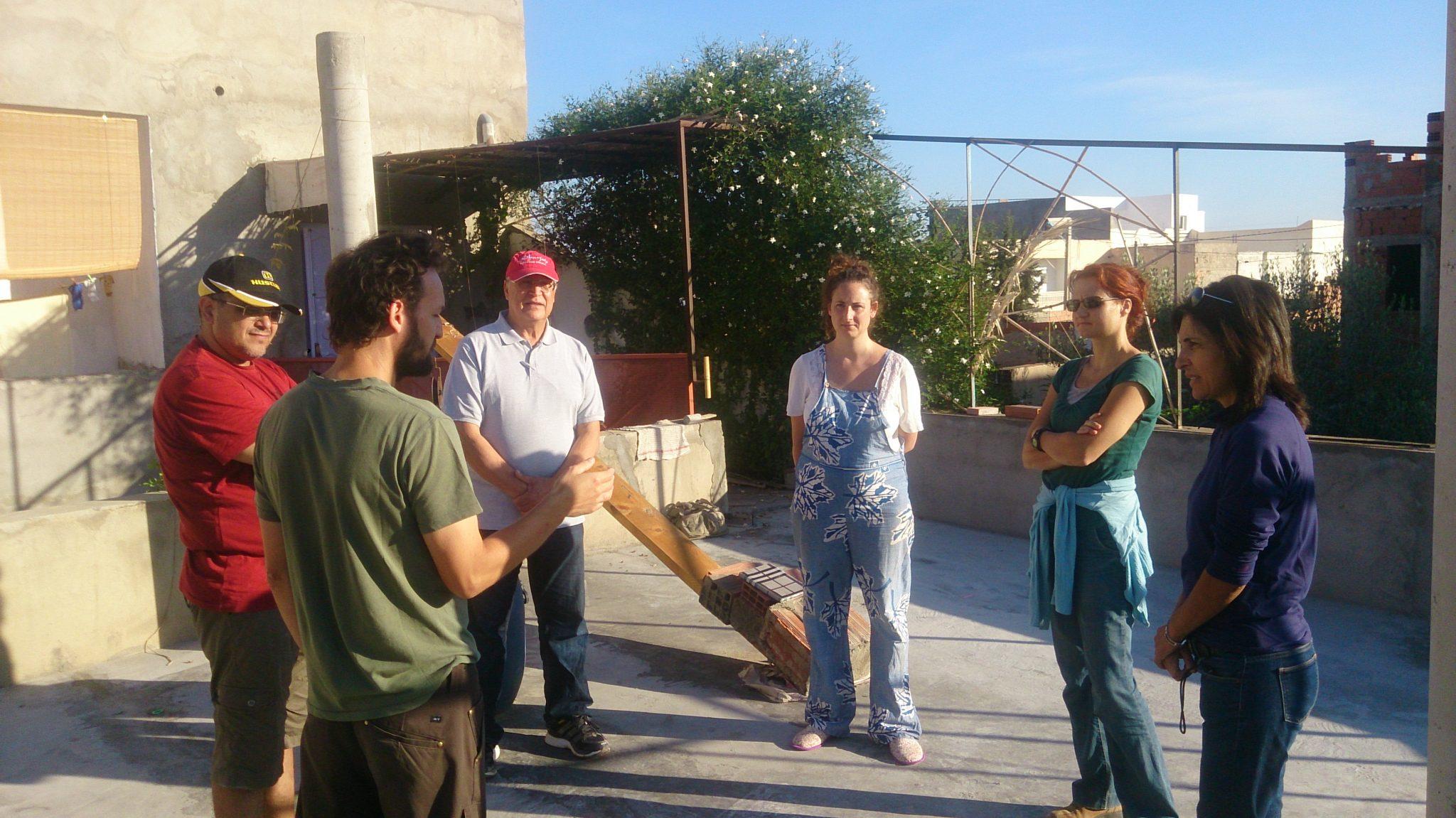 Cercle de parole du matin Cours de design en permaculture PDC Tunisie