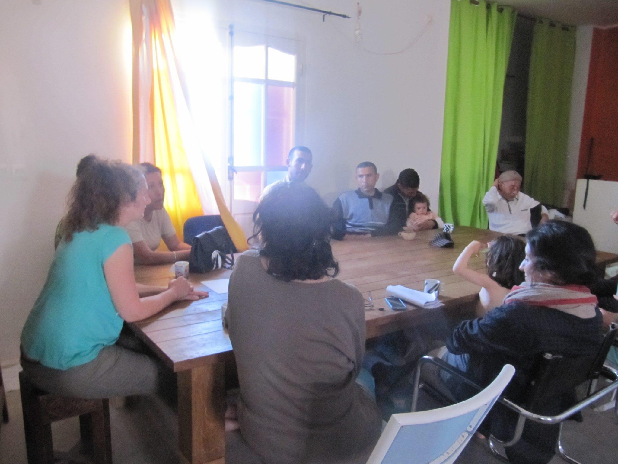 Initiation permaculture l'ombre du palmier Tunisie