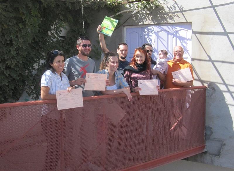 Remise des certificats Cours de design en permaculture PDC Tunisie