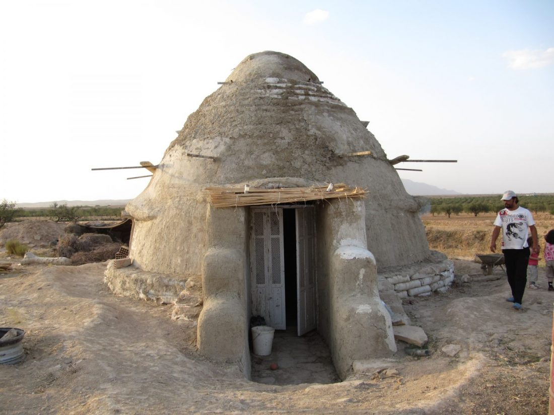 ecoconstruction superadobe Tunisie dome