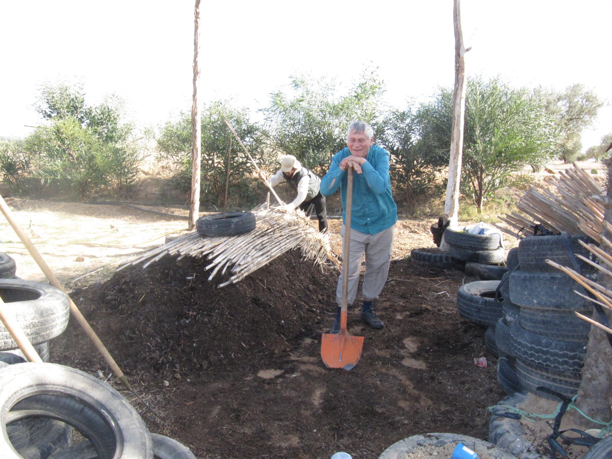 compost permaculture l'ombre du palmier